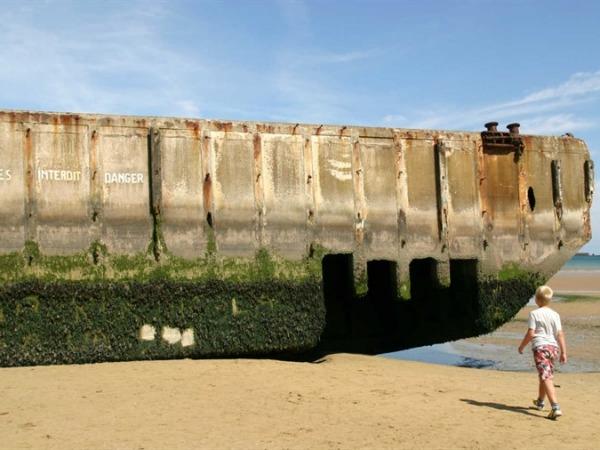 Invasiestrand in Normandië