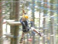 Zeb in het klimpark
