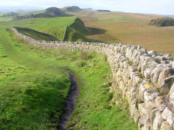 De muur van Hadrianus in Noord-Engeland