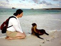 Ontmoeting met een zeeleeuw pup op de Galapagos
