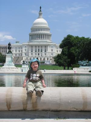 Poseren voor het Capitool in Washington DC