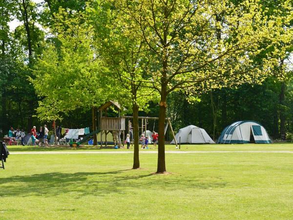 campingveld met speeltoestel