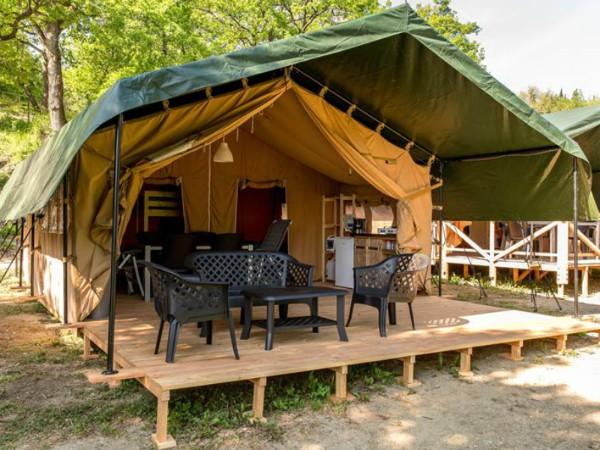 Glampingtent op camping de Rammelbeek