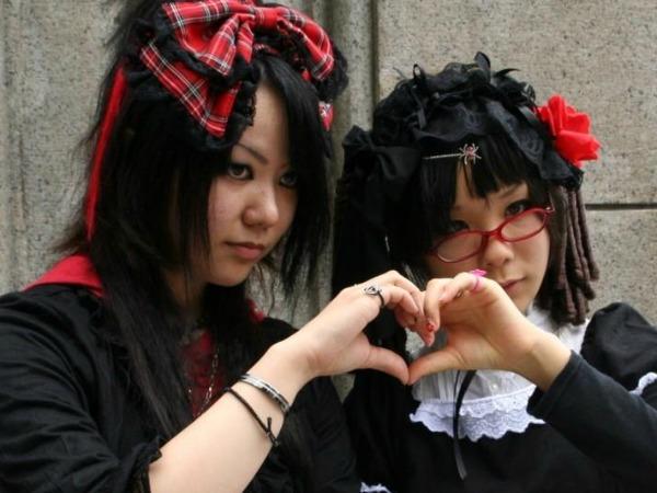 Japanse meisjes in Tokyo