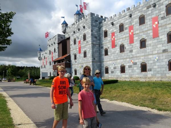 Het koningskasteel in het vakantiepark