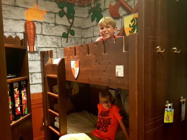 Wij sliepen in een themakamer in het kasteel