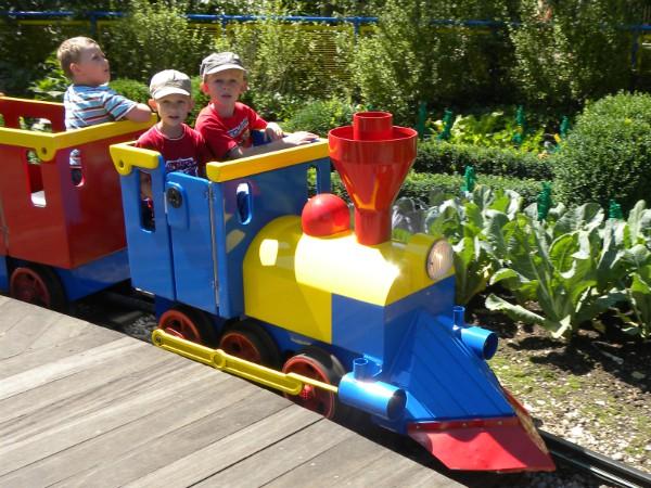 In de Duplo-trein in Legoland Duitsland