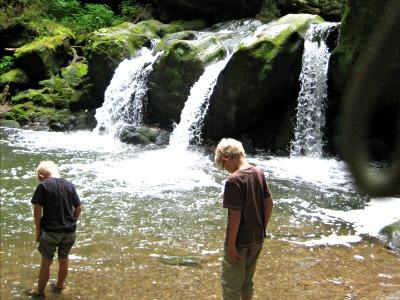 Bij de Schiessentumpel watervallen