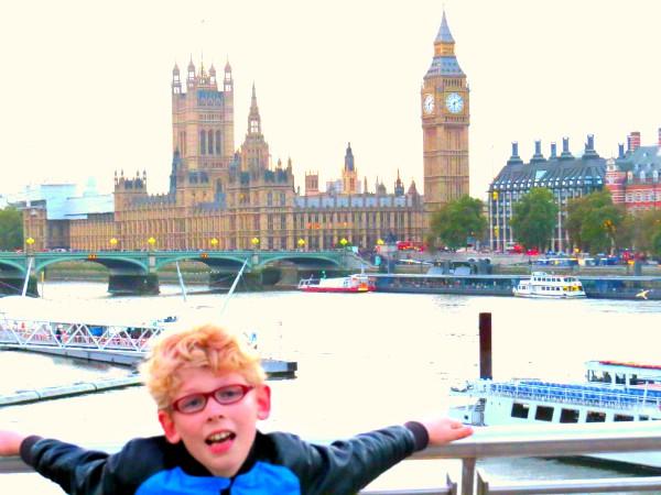 Zeb bij de Big Ben in Londen