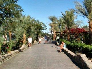 De boulevard van Naama Bay in Sharm el Sheikh