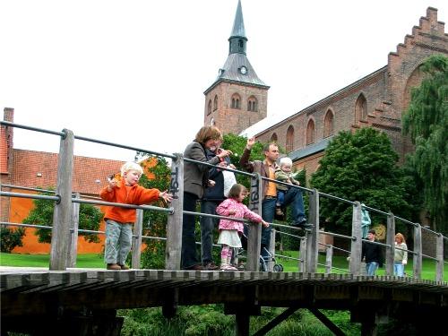Eendjes voeren in Odense