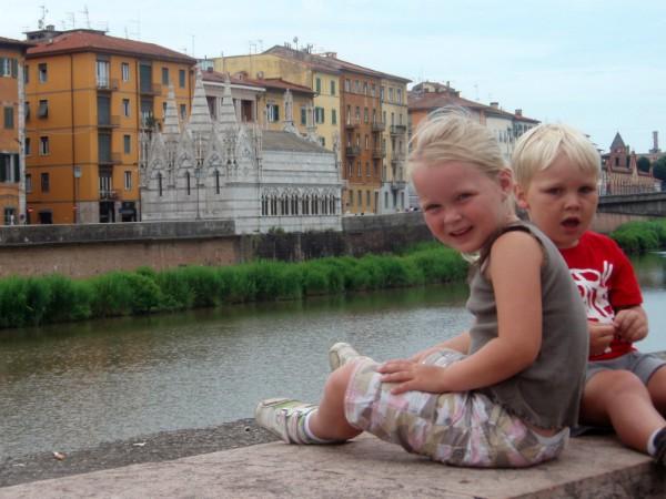 Lekker relaxen aan de rivier in Florence