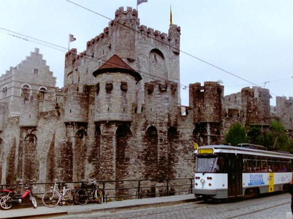 De burcht Gravensteen in Gent