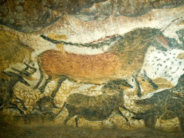 Pre-historische grottekening in Lascaux