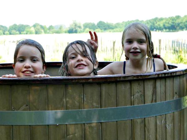 Een heerlijke hot tub bij je eigen tent