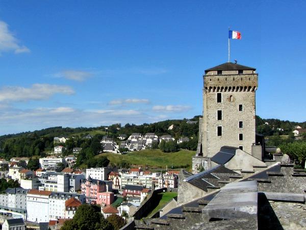 Het kasteel van Lourdes