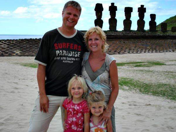 Marie-José met haar gezin