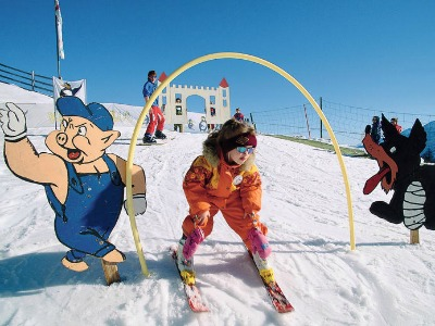 Een kinderpiste in Osttirol