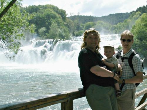Bij de Krka watervallen in Kroatië