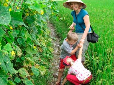 In de rijstvelden van Vietnam