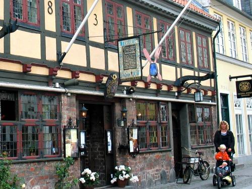 Typisch oud café in Odense