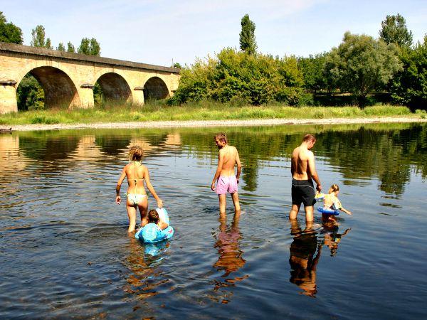 Pootje baden in de Dordogne