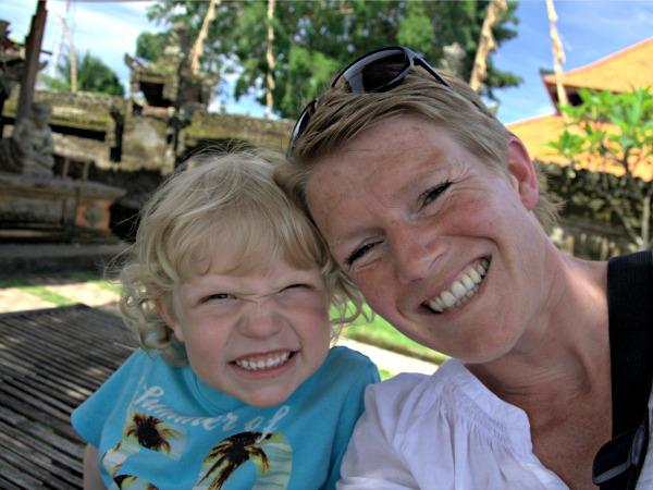 Reisspecialist Birgit met haar dochter op Bali