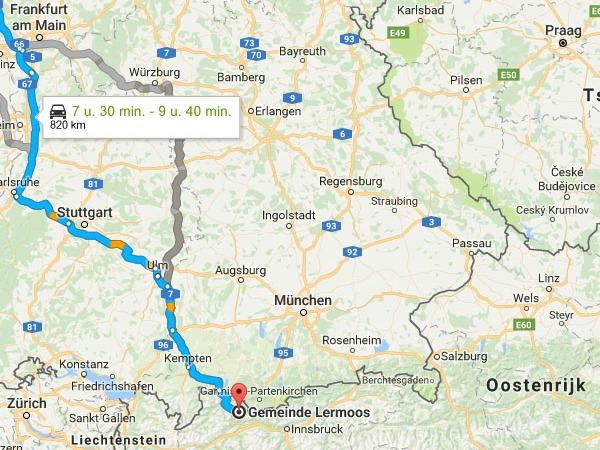 Lermoos is het makkelijkst bereikbare skigebied in Oostenrijk