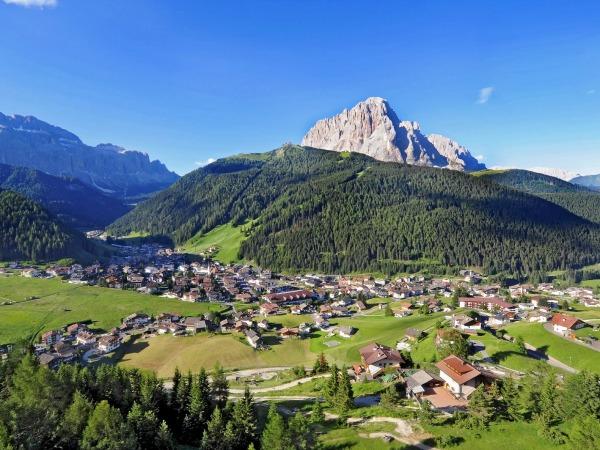 Het dorpje Selva in Val Gardena