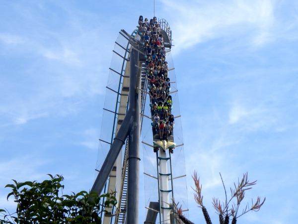 De Shambala achtbaan in Port Aventura