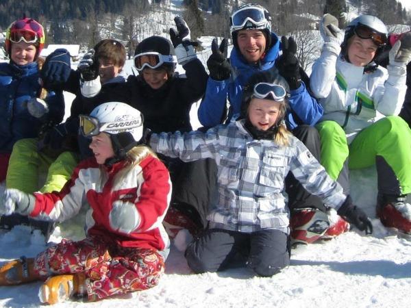 Vrienden worden snel gemaakt in de sneeuw