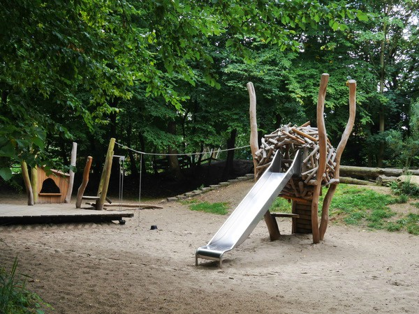 Speeltuintje in het Provincie domein Kessel-Lo bij Leuven
