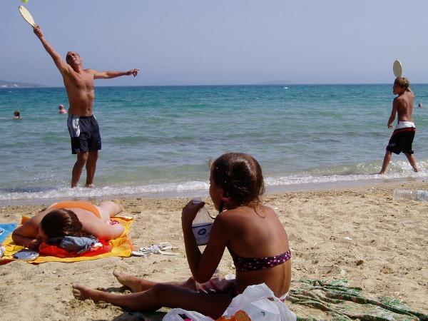 Op het strand van Antiparos
