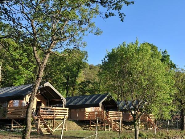 Prachtige ingerichte tenten, op landelijk gelegen campings