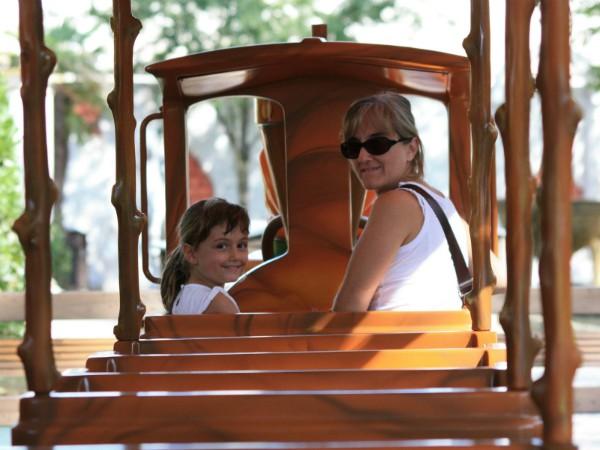 Het treintje in safaripark Pombia