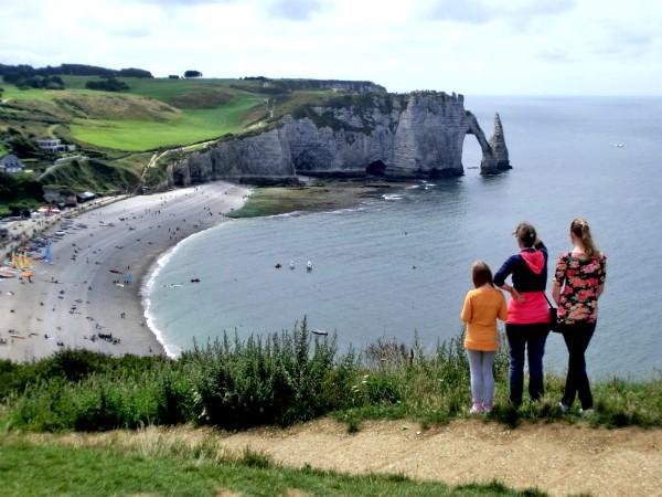 De prachtige kust bij Etretat in Normandië