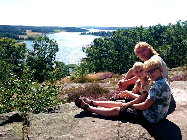 Uitzicht op de mooie Zweedse Oost-kust