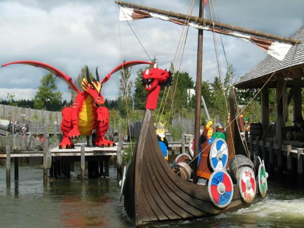 Vikingschip in Legoland