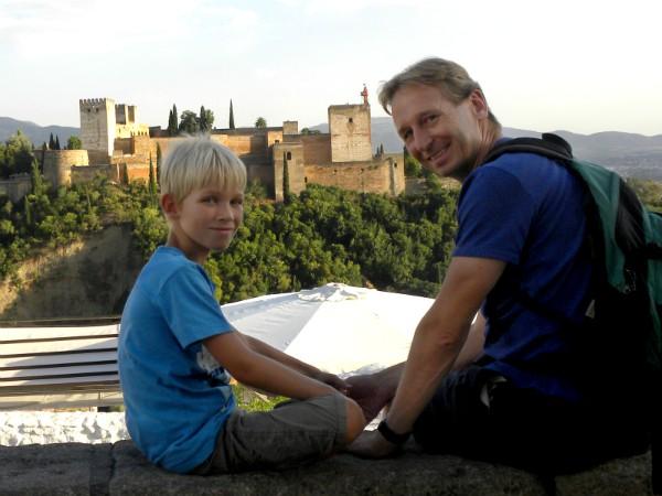 Uitzicht op de Alhambra in Granada