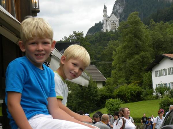 Poseren voor slot Neuschwanstein