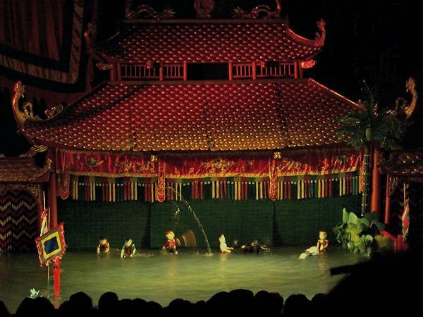 Waterpoppen theater in Hanoi