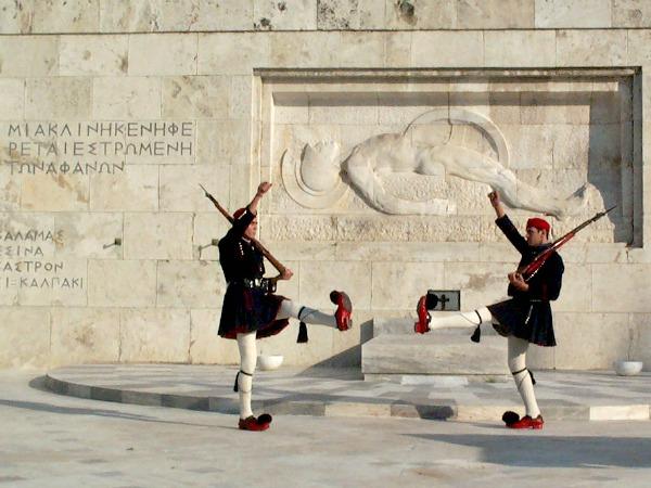 Wisseling van de wacht in Athene