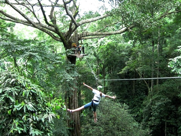 Ziplinen door de jungle van Noord-Thailand