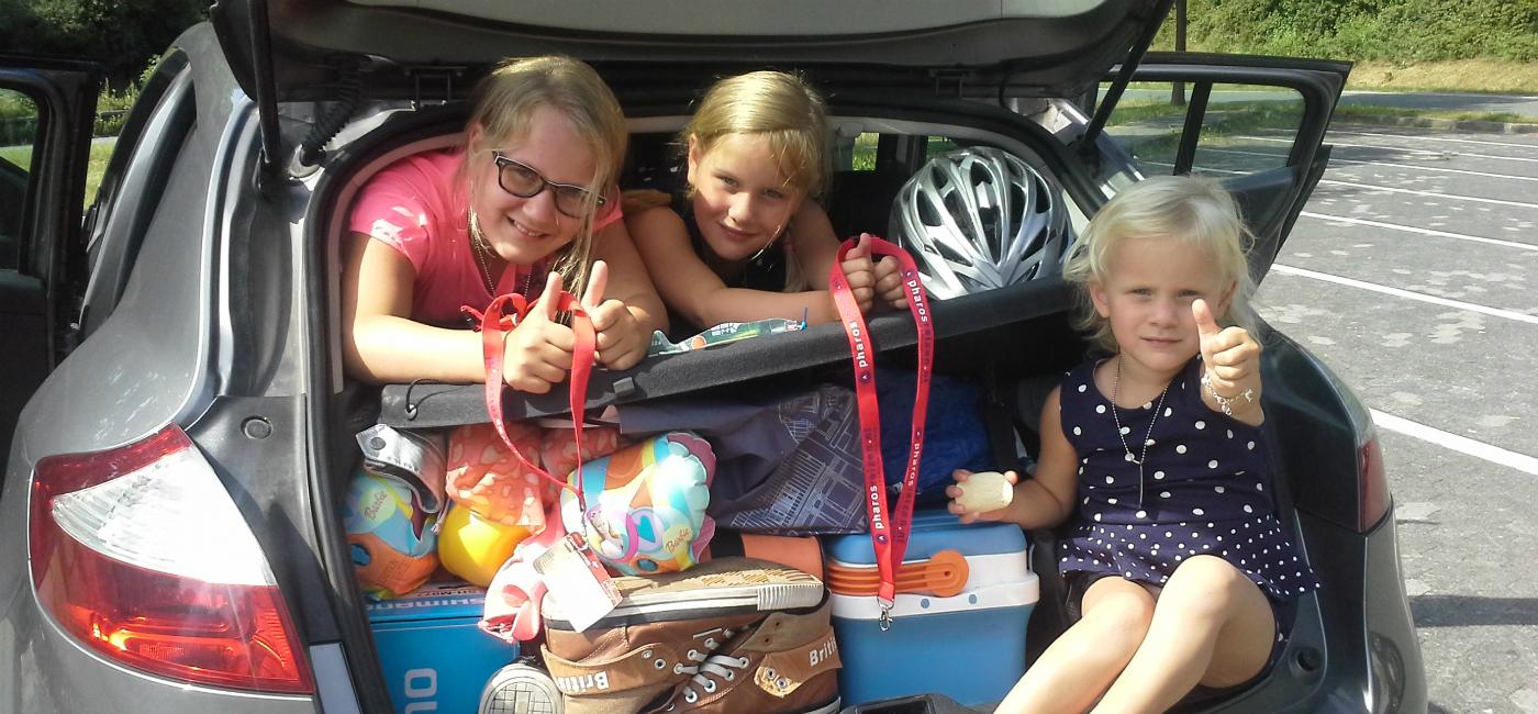 autorondreizen met kids