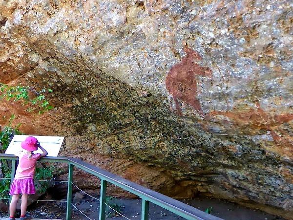 Eeuwenoude rotstekeningen van de Aboriginals in Kakadu National Park