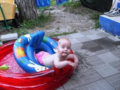 in mijn zwembadje