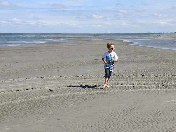 Genieten op het strand van Ameland