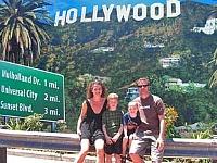 Even poseren bij Hollywood