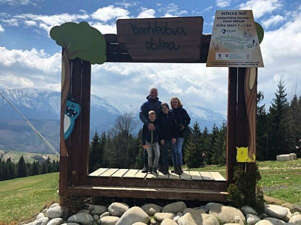 Met het gezin in Slowakije