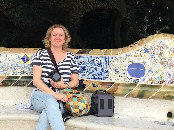 Annemarie in Park Güell, Barcelona